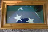 Oak Flag Display Case