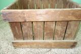 Vintage Wood Crate Advertising