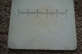 Dale Hall Pottery Measuring Cutting Board And Wooden Measuring Cup