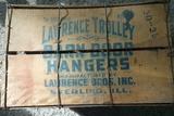 Wood Advertising Crate Barn Door Hangers Sterling, Illinois