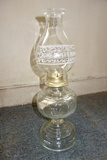 Glass Oil Lamp With Printed Chimney