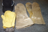 Outdoor Winter Mittens Choppers Leather And Hat Lot