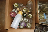Assorted Kerr And Misc Glass Jars And Bottles