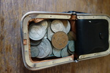 Coin Purse With Foreign Coins And Bills