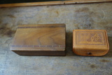 Wood Box And Leather Box