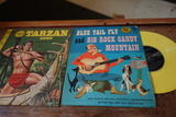 Vintage Kids Records Collection And Two Record Sleeves