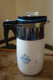 Corning Ware Cornflower 10 Cup Percolator With Insides