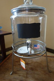 Glass Beverage Dispenser And Stand