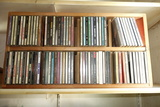 Cd Storage And 65 Assorted Cds