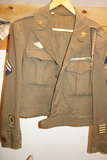 Mens Military Jacket Size 38s With Badges And Bars