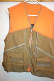 Men's Quilted Hunting Vest Blaze Orange And Tan Men's M
