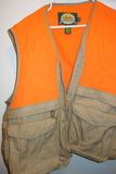 Cabela's Hunting Vest Men's 2xl Blaze Orange And Tan