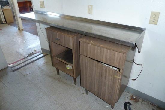 2 Stainless Shelf Tops w/Storage