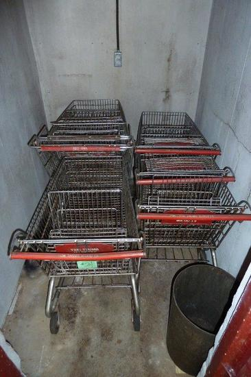Lot of 5 Shopping Carts
