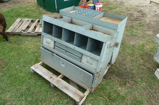 Pair of utility vehicle shelving/organizer