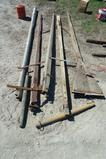 Lot of wagon poles with two eveners