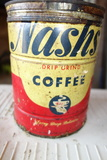Vintage coffee cans Nashs Harvest Queen