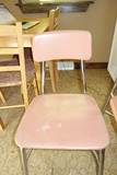 Vintage Hey Woodite Pink Plastic Chairs Set Of 2