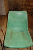 Vintage Krueger Green Bay Green Plastic Chairs Set Of 2