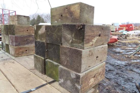 Lot of 10 Wood Blocks