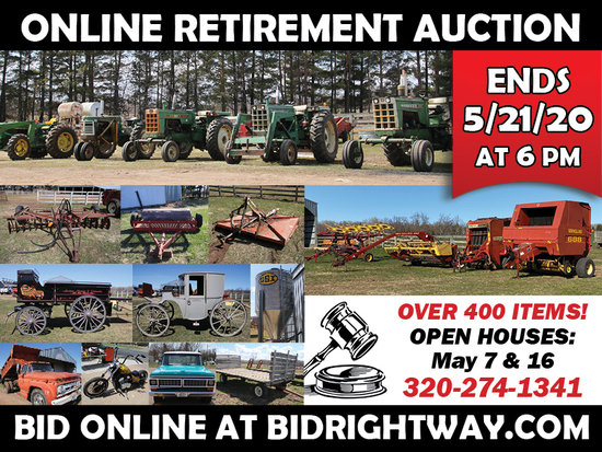 Sandstone MN Online Retirement Auction Ends May 21