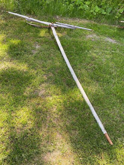 2 horse buggy pole with evener