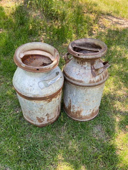 Pair of milk cans