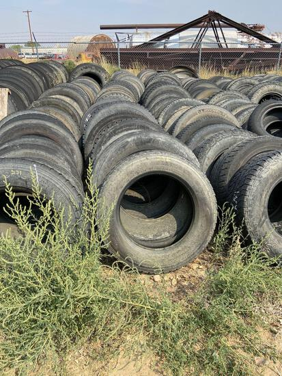 Six rows of light truck tire casings