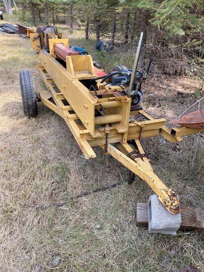 Gas operated hydraulic wood splitter