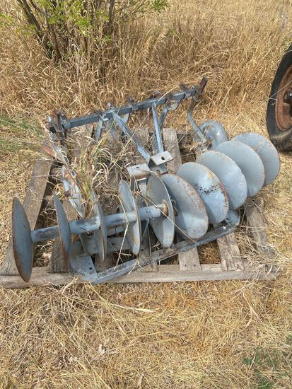 4 foot single disc, 3 foot cultivator