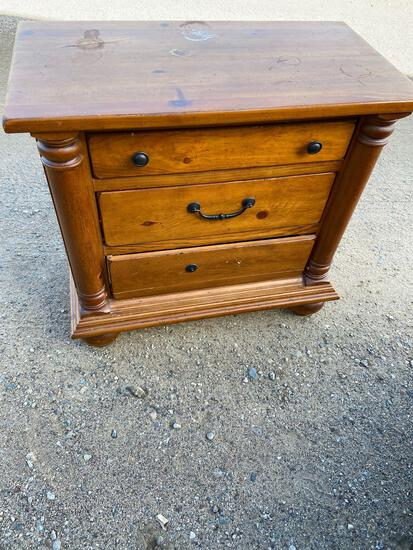 Three drawer cabinet nightstand and dresser
