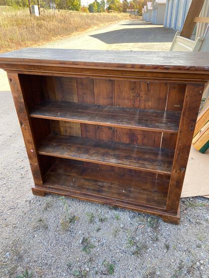 Rustic wood bookshelf