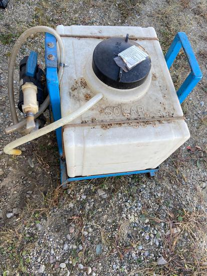 Spray tank with 12v pump
