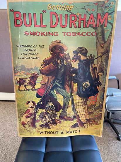 Bull Durham smoking tobacco art