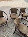 Set of four rustic chairs on casters Flat Rock furniture