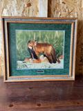 Say Uncle signed and numbered fox print by Mousel