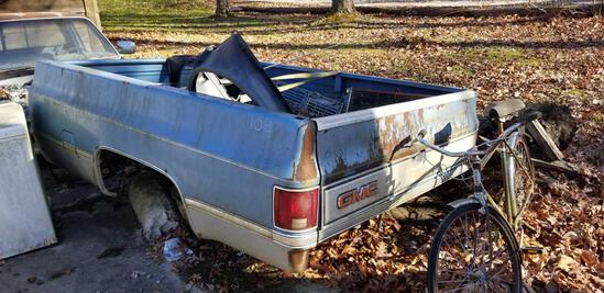 Old GMC Truck bed
