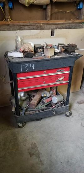 Mac Tools Tool Box Cart and Contents