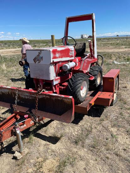 Trencher with trailer