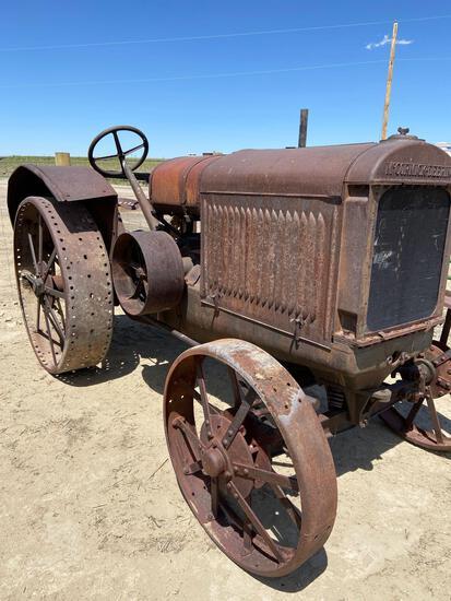 McCormick Deering steel wheel tractor