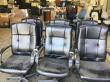 6 black oiffice chairs