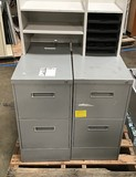 2 metal filing cabinets