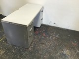 METAL FILE CABINETS , 2 wooden desk surface