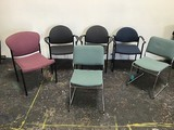 6 WAITING OFFICE CHAIRS