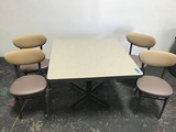 42 x 42 kitchen table with 4 chairs