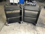 Two black book carts