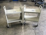Two book carts