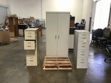3 metal filling cabinets