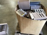 ASSORTED BOX OF METAL PAPER TRAYS ORGANIZERS