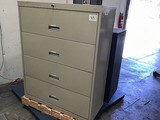 Two office filing cabinets